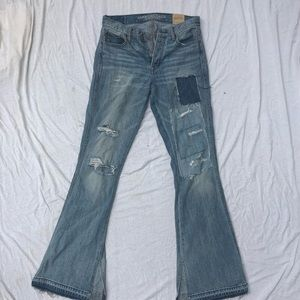 American Eagle Vintage Ripped Flare Jeans